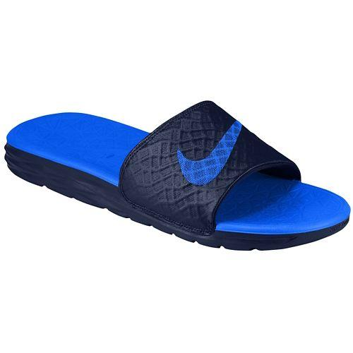 cd4c769072781c (Get CDN) Nike men s Benassi solar soft slide 2 Nike Men s Benassi  Solarsoft Slide 2 Midnight Navy Lyon Blue