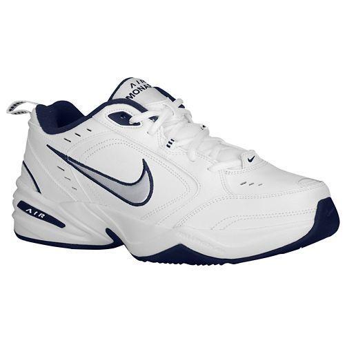 (取寄)NIKE ナイキ メンズ エア モナーク 4 トレーニングシューズ Nike Men's Air Monarch IV White Midnight Navy Metallic Silver 【コンビニ受取対応商品】