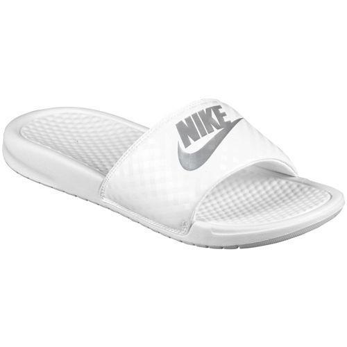 415da1288503 JETRAG Rakuten Ichiba Shop  NIKE Nike Sandals Womens Benassi JDI slide Nike Benassi  JDI Slide Women s White Metallic Silver 02P01Oct16
