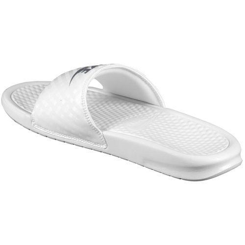 175da787a2a59 (Get CDN) NIKE Nike Sandals Womens Benassi JDI slide Nike Benassi JDI Slide  Women s White Metallic Silver 02P28Sep16