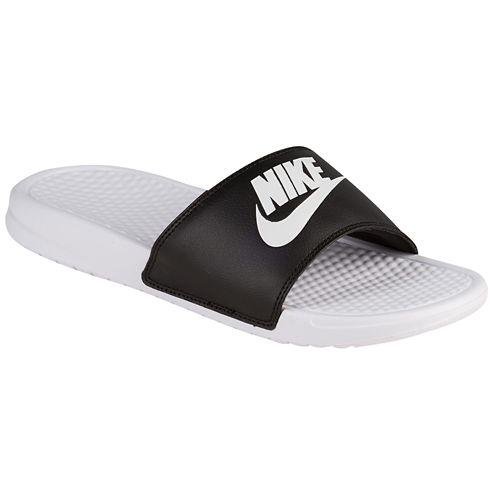 NIKE Nike Benassi Sandals mismatch unisex white black Nike Men s Benassi  JDI Mismatch Slide Black White cc74f5355c