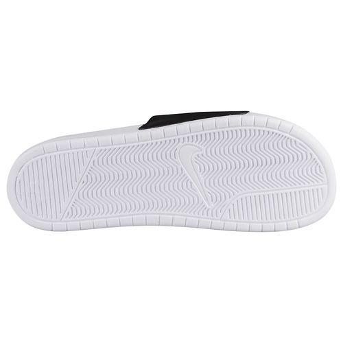 NIKE Nike Benassi Sandals mismatch unisex white black Nike Men's Benassi JDI Mismatch Slide Black White