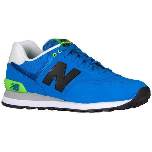 (가지고 돈 보관) 뉴 밸런스 남자 574 New balance Men 's 574 Sonar Blue Bright Green 02P05Nov16