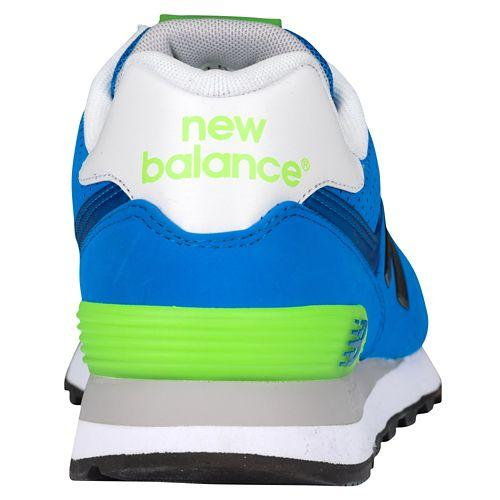(취기) 뉴 밸런스 맨즈 574 New balance Men's 574 Sonar Blue Bright Green