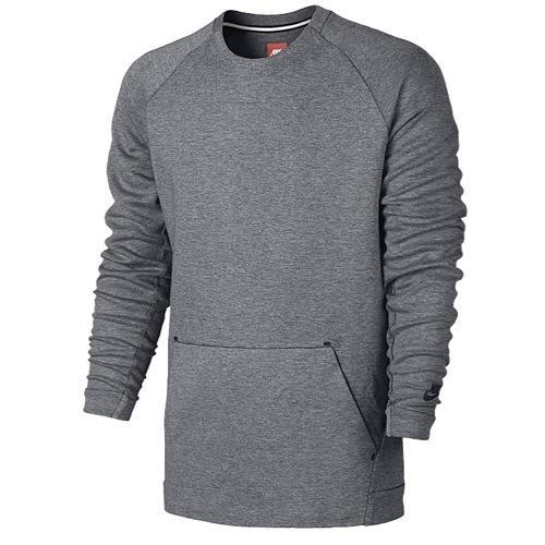 (取寄)Nike ナイキ メンズ NSW テック フリース クルー 長袖 Tシャツ Nike Men's NSW Tech Fleece Crew Carbon Heather Black 【コンビニ受取対応商品】