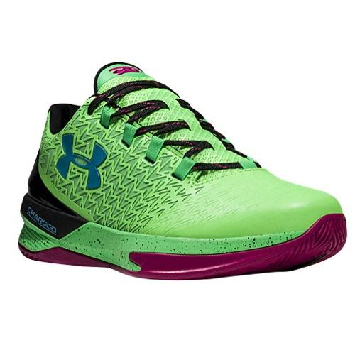 (order) under Armour men basketball shoes clutch fitting drive 3 low basketball  shoes Under Armour Men's Clutchfit Drive 3 Low Hyper Green Tropic Pink ...