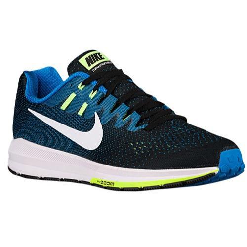 (取寄)ナイキ メンズ エア ズーム ストラクチャ 20 スニーカー ランニングシューズ Nike Men's Air Zoom Structure 20 Black Photo Blue Ghost Green White 【コンビニ受取対応商品】