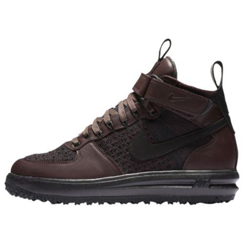 (order) Nike men luna force 1 fly knit work boots Nike Men's Lunar Force 1  Flyknit Workboots Deep Burgundy Black Summit White