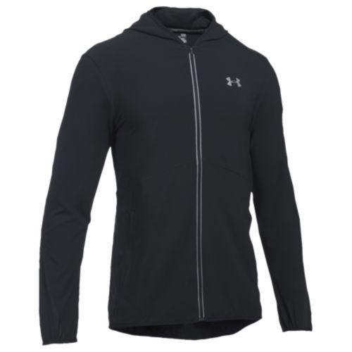 (取寄)アンダーアーマー メンズ ラン トゥルー ストレッチ ウーブン ジャケット Under Armour Men's Run True Stretch Woven Jacket Black Black Reflective