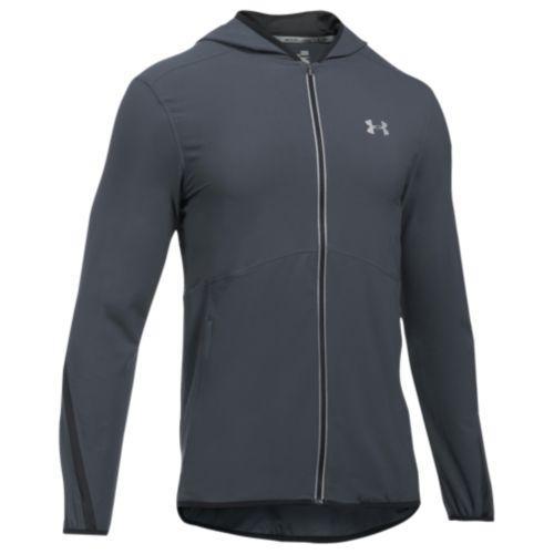 (取寄)アンダーアーマー メンズ ラン トゥルー ストレッチ ウーブン ジャケット Under Armour Men's Run True Stretch Woven Jacket Stealth Gray Black Reflective