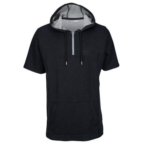 (取寄)アンダーアーマー メンズ パスィート ショート スリーブ フーデット Tシャツ Under Armour Men's Pursuit Short Sleeve Hooded T-Shirt Black True Grey Heather