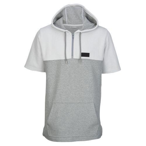 (取寄)アンダーアーマー メンズ パスィート ショート スリーブ フーデット Tシャツ Under Armour Men's Pursuit Short Sleeve Hooded T-Shirt White True Grey Heather