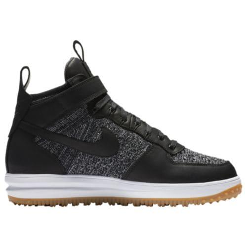 (取寄)Nike ナイキ メンズ ルナ フォース 1 フライニット ワークブーツ Nike Men's Lunar Force 1 Flyknit Workboots Black White Wolf Grey Gum Light Brown