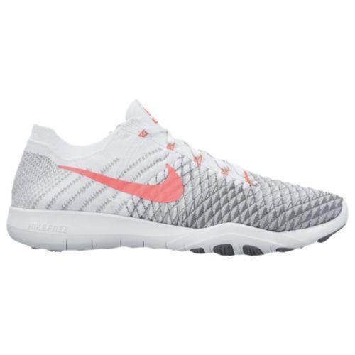 (取寄)Nike ナイキ レディース トレーニングシューズ フリー TR フライニット 2 Nike Women's Free TR Flyknit 2 White Hyper Punch Wolf Grey