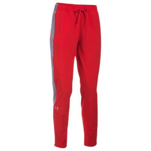 (取寄)アンダーアーマー レディース チーム スクウォッド ウーブン ウォーム アップ パンツ Under Armour Women's Team Squad Woven Warm Up Pants Red Steel