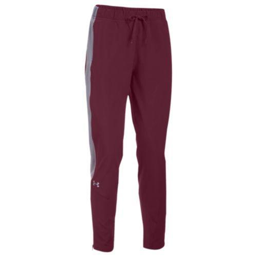 (取寄)アンダーアーマー レディース チーム スクウォッド ウーブン ウォーム アップ パンツ Under Armour Women's Team Squad Woven Warm Up Pants Maroon Steel