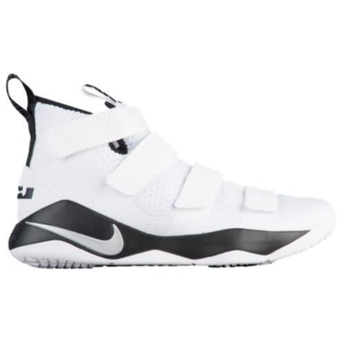 (取寄)Nike ナイキ メンズ スニーカー バッシュ レブロン ソルジャー 11 バスケットシューズ Nike Men's LeBron Soldier 11 White Metallic Silver Black