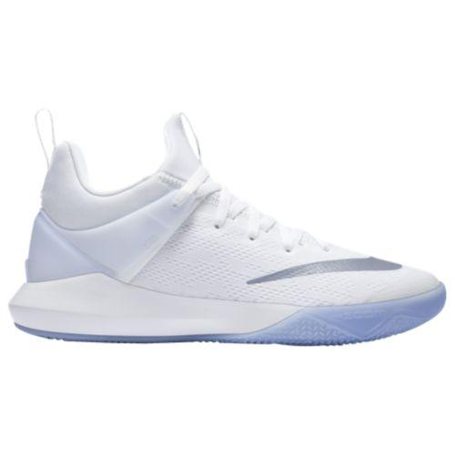 (取寄)Nike ナイキ メンズ バッシュ ズーム シフト バスケットシューズ スニーカー Nike Men's Zoom Shift White Metallic Silver Wolf Grey