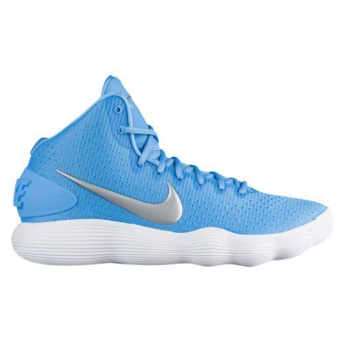 (取寄)Nike ナイキ メンズ バッシュ リアクト ハイパーダンク 2017 ミッド バスケットシューズ スニーカー Nike Men's React Hyperdunk 2017 Mid University Blue Metallic Silver White