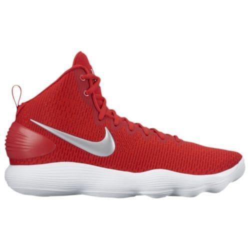 (取寄)Nike ナイキ メンズ バッシュ リアクト ハイパーダンク 2017 ミッド バスケットシューズ スニーカー Nike Men's React Hyperdunk 2017 Mid University Red Metallic Silver White