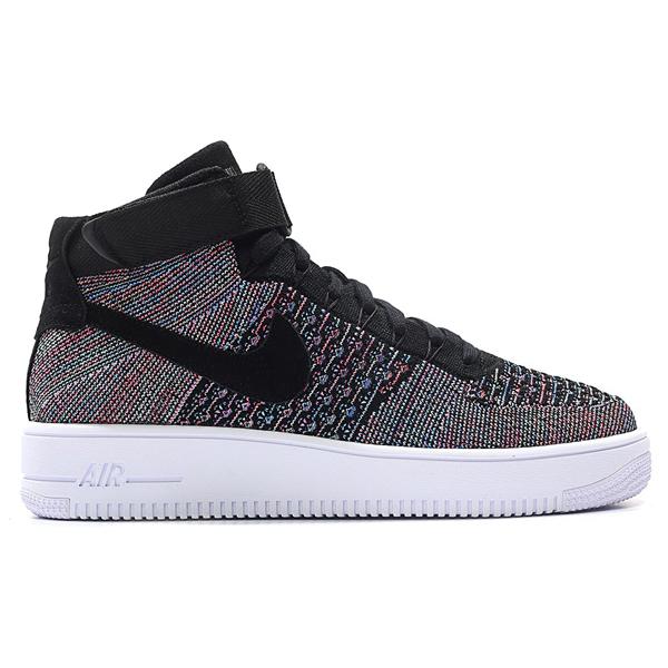 cheaper c2bb6 64116 Nike Nike men air force 1 ultra fly knit mid sneakers Nike Men s Air Force  1 Ultra Flyknit Mid Hot Punch Black Blue Glow White