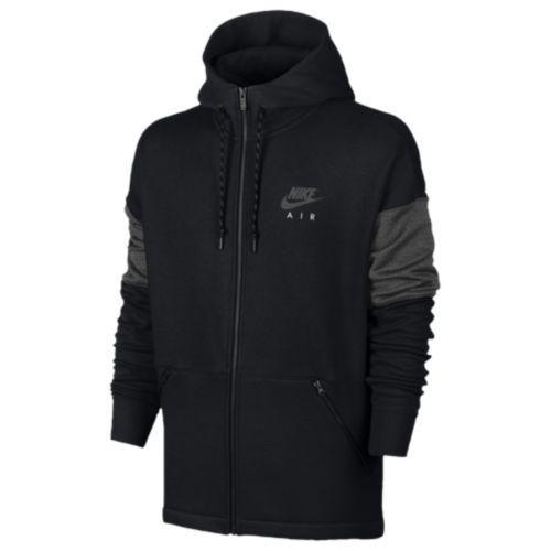 (取寄)Nike ナイキ メンズ パーカー エア フル ジップ フーディ Nike Men's Air Full Zip Hoodie Black Anthracite Black