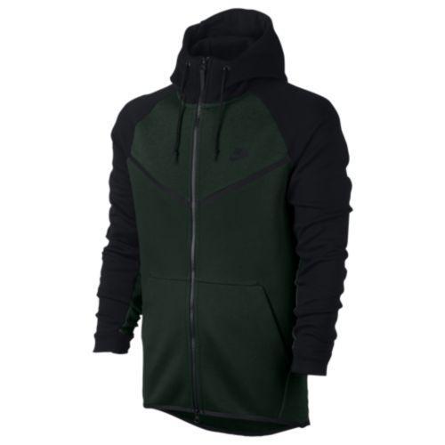 (取寄)Nike ナイキ メンズ パーカー テック フリース カラーブロック ウインドランナー Nike Men's Tech Fleece Colorblocked Windrunner Vintage Green Black Black