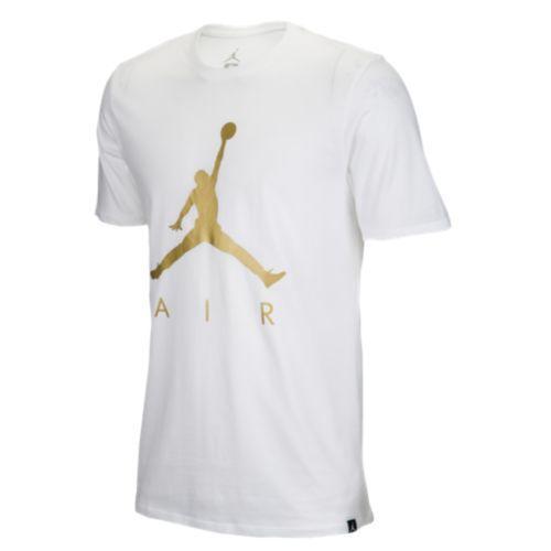 JETRAG Rakuten Ichiba Shop  (order) Jordan men jump man air graphic T-shirt  Jordan Men s Jumpman Air Graphic T-Shirt White Metallic Gold  05af45c6b452
