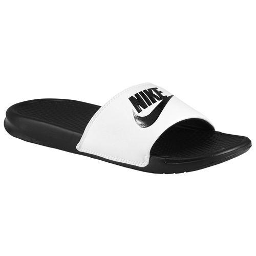 (Get CDN) Nike men s Benassi JDI slide Nike Men s Benassi JDI Slide White  Black 728634a49