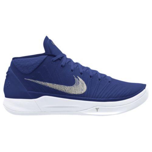 (取寄)Nike ナイキ メンズ スニーカー バッシュ コービー A.D. バスケットシューズ Nike Men's Kobe A.D. Midnight Navy Metallic Silver White