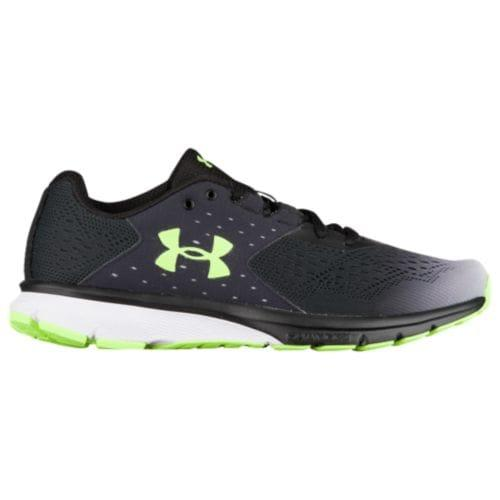 (取寄)アンダーアーマー メンズ チャージド レベル Under Armour Men's Charged Rebel Black Overcast Grey Quirky Lime