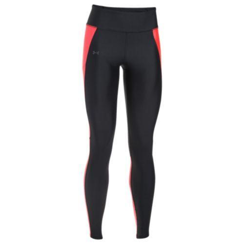 (取寄)アンダーアーマー レディース ヒートギア フライ バイ ラン レギンス Under Armour Women's HeatGear Fly By Run Leggings Black Marathon Red Reflective
