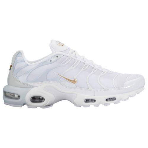(order) Nike men Air Max plus Nike Men's Air Max Plus Pure Platinum  Metallic Gold White