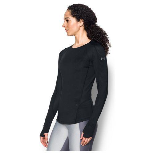 (取寄)アンダーアーマー レディース リアクター ラン ロング スリーブ トップ Under Armour Women's Reactor Run Long Sleeve Top Black Black Reflective