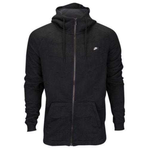 (取寄)Nike ナイキ メンズ パーカー モダン ジャカード フルジップ フーディ Nike Men's Modern Jacquard Full-Zip Hoodie Anthracite Black