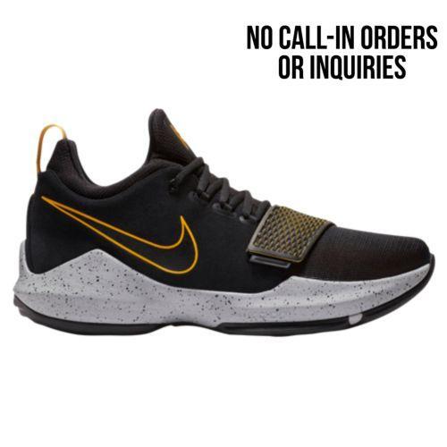 (取寄)Nike ナイキ メンズ スニーカー バッシュ PG 1 バスケットシューズ Nike Men's PG 1 Black University Gold Wolf Grey
