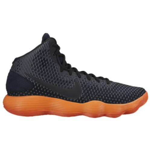 (取寄)Nike ナイキ メンズ スニーカー バッシュ リアクト ハイパーダンク 2017 ミッド バスケットシューズ Nike Men's React Hyperdunk 2017 Mid Black Total Orange Racer Blue Dark Grey