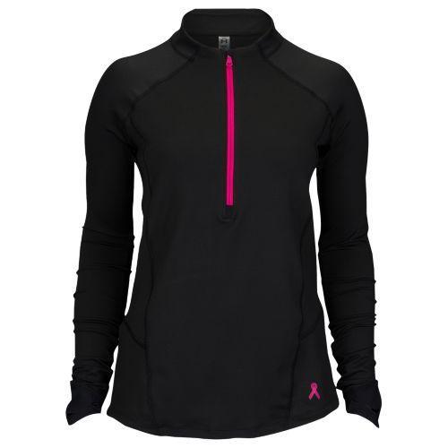 (取寄)アンダーアーマー レディース ラン トゥルー 1/2 ジップ Under Armour Women's Run True 1/2 Zip Black Tropic Pink Reflective