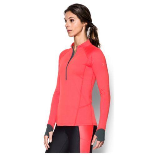 (取寄)アンダーアーマー レディース ラン トゥルー 1/2 ジップ Under Armour Women's Run True 1/2 Zip Marathon Red Rhino Gray Reflective