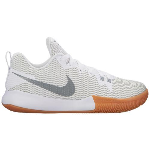 (取寄)ナイキ メンズ バッシュ ズーム ライブ 2 バスケットボール Nike Men's Zoom Live II White Reflective Silver Pure Platinum Gum