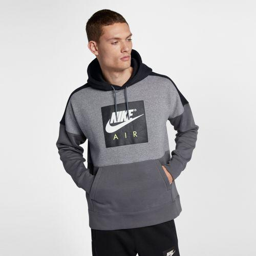 (取寄)ナイキ メンズ パーカー エア フリース プルオーバー フーディ Nike Men's Air Fleece Pullover Hoodie Carbon Heather Black Dark Grey