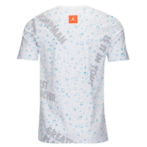 357ab360ef19fa (order) Jordan men JSW like microphone AOP T-shirt Jordan Men s JSW Like  Mike AOP T-Shirt White Blue Lagoon