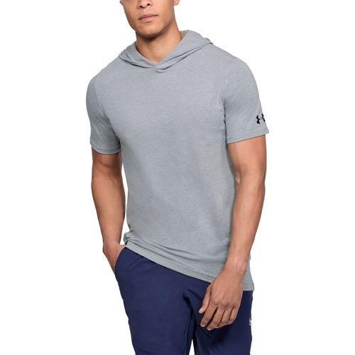 (取寄)アンダーアーマー メンズ ベースライン ショートスリーブ フーデット Tシャツ Under Armour Men's Baseline S/S Hooded T-Shirt Steel Light Heather Black