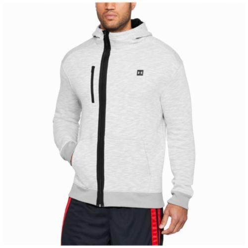 (取寄)アンダーアーマー メンズ ベースライン F/Z フーディ Under Armour Men's Baseline F/Z Hoodie True Grey Heather Black
