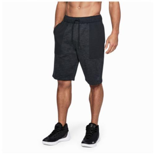 (取寄)アンダーアーマー メンズ ベースライン フリース ショーツ Under Armour Men's Baseline Fleece Shorts Black Stealth Grey