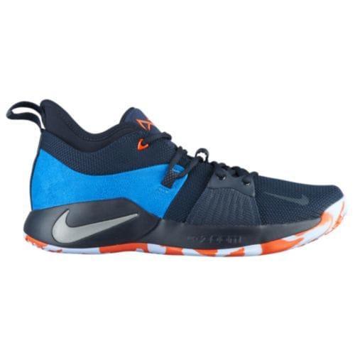 (取寄)ナイキ メンズ バッシュ PG 2 ポール ジョージ バスケットシューズ Nike Men's PG 2 Paul George Dark Obsidian Navy Kinetic Green