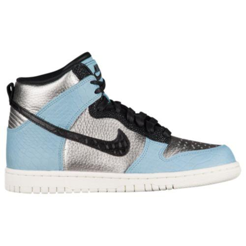 New Trendy Nike Dunk Hi Lx Metallic Silver/Black/Mica Blue/Ivory For Women Sale Online