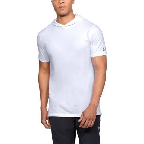 (取寄)アンダーアーマー メンズ ベースライン ショートスリーブ フーデット Tシャツ Under Armour Men's Baseline S/S Hooded T-Shirt White Steel