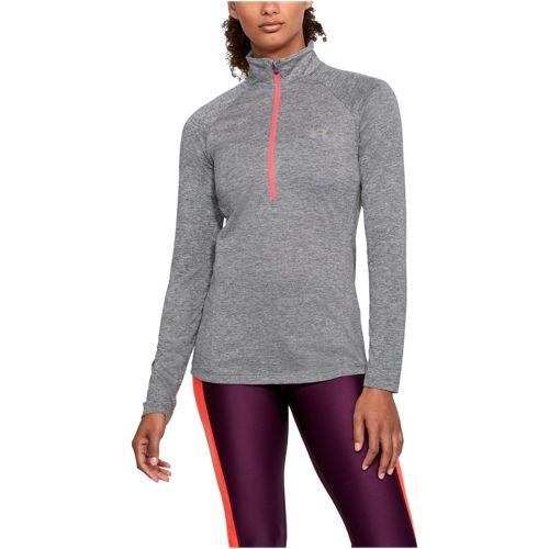 (取寄)アンダーアーマー レディース テック 1/2 ジップ Under Armour Women's Tech 1/2 Zip Graphite Brilliance Metallic Silver