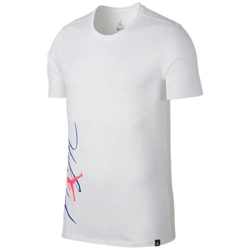 9f7b976d7b1475 (order) Jordan men jump man flight line T-shirt Jordan Men s Jumpman Flight  Lines T-Shirt White Racer Blue Racer Pink